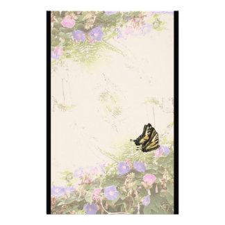 Swallowtail Butterfly Flower Floral Wildlife Personalized Stationery