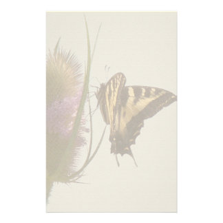 Swallowtail Butterfly Flower Floral Wildlife Stationery