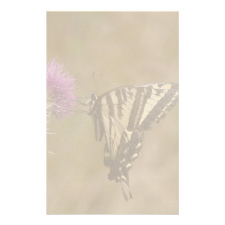 Swallowtail Butterfly Flowers Floral Wildlife Custom Stationery