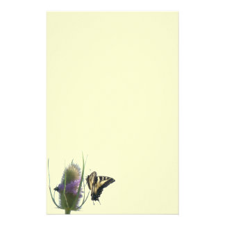 Swallowtail Butterfly Flowers Floral Wildlife Stationery