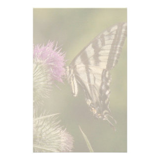 Swallowtail Butterfly Flowers Floral Wildlife Stationery Design
