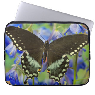 Swallowtail Butterfly on blue Laptop Sleeve