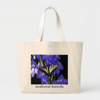 Swallowtail Butterfly on Delphiniums Bags