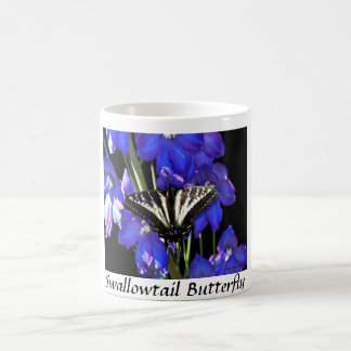 Swallowtail Butterfly on Delphiniums Mug