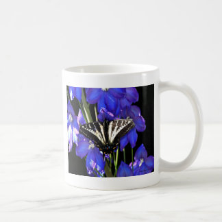 Swallowtail Butterfly on Delphiniums Mug