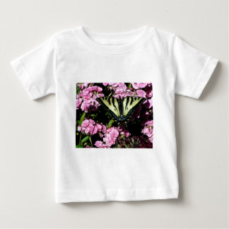 Swallowtail Butterfly on pink flowers Baby T-Shirt