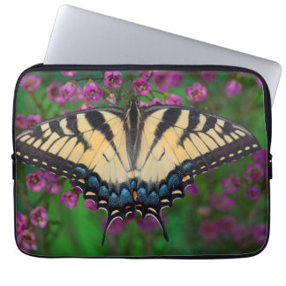 Swallowtail Butterfly on purple Laptop Sleeve