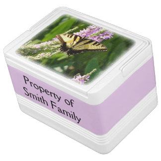 Swallowtail Butterfly on Purple Wildflowers Cooler