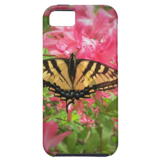 Swallowtail Butterfly Sits on Pink Azaleas Case For The iPhone 5