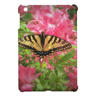 Swallowtail Butterfly Sits on Pink Azaleas iPad Mini Cases