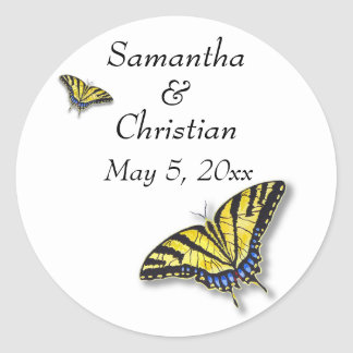 Swallowtail Butterfly Wedding Invitation Stickers