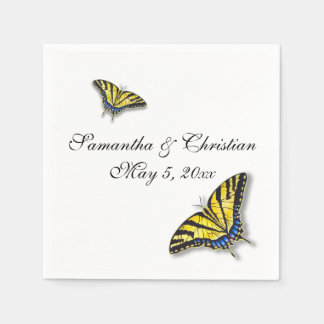 Swallowtail Butterfly Wedding Paper Napkins