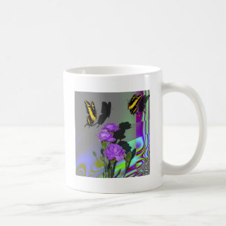 Swallowtails and Carnations Coffee Mugs