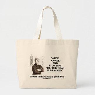 Swami Vivekananda Arise Awake Stop Not 'Til Goal Large Tote Bag