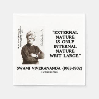 Swami Vivekananda External Nature Internal Nature Disposable Napkins