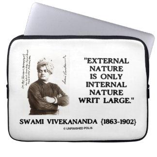 Swami Vivekananda External Nature Internal Nature Laptop Sleeves