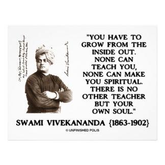 Swami Vivekananda Grow From Inside Out Own Teacher 21.5 Cm X 28 Cm Flyer
