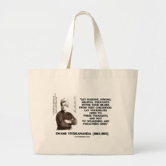 Swami Vivekananda Positive Strong Helpful Thoughts Jumbo Tote Bag