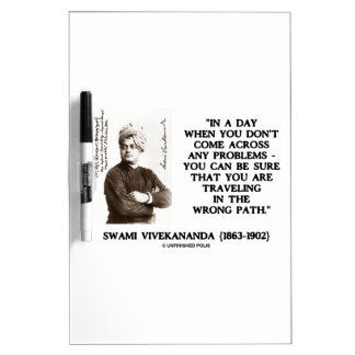 Swami Vivekananda Problems Traveling Wrong Path Dry-Erase Whiteboard