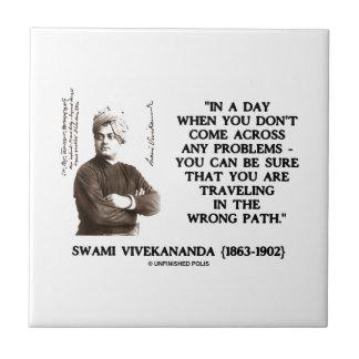Swami Vivekananda Problems Traveling Wrong Path Ceramic Tile