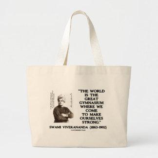 Swami Vivekananda World Great Gymnasium Strong Jumbo Tote Bag
