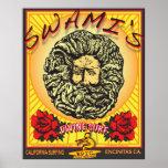SWAMI'S ENCINITAS CALIFORNIA SURFING POSTER