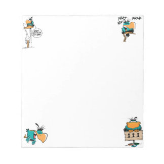 Swamp Bludgerigar Bird Cartoon Notepad