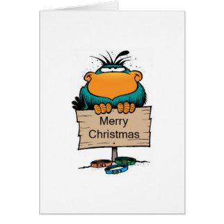 Swamp Bludgerigar Christmas Card