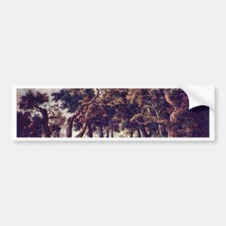 Swamp By Ruisdael Jacob Isaaksz Van Bumper Sticker