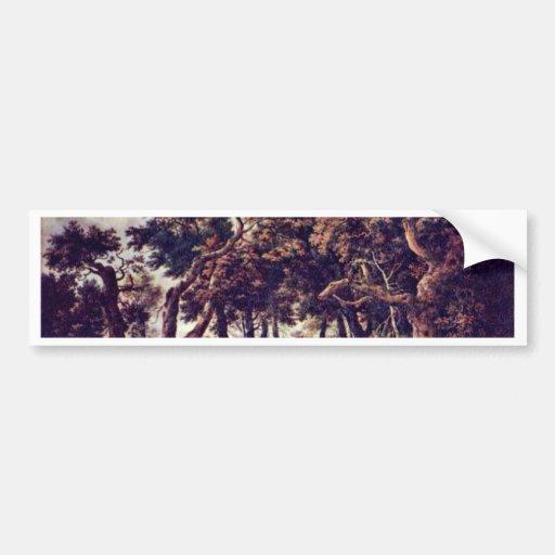 Swamp By Ruisdael Jacob Isaaksz. Van Bumper Sticker