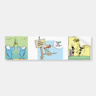 Swamp Cartoon Characters Bumper Sticker