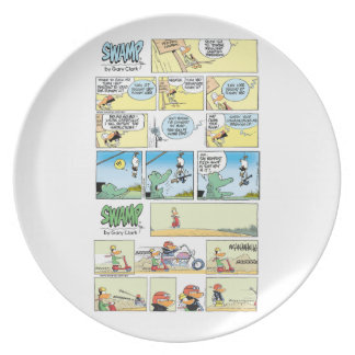 Swamp Character Cartoon Plate