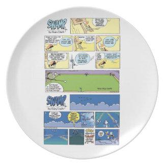Swamp Character Cartoon Plate