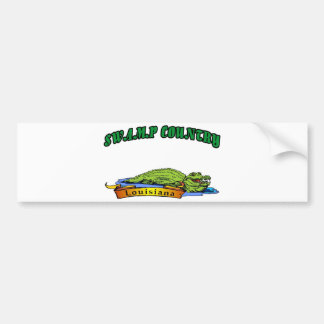 Swamp Country Louisiana Bumper Sticker