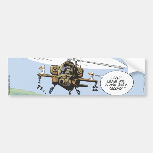 Swamp Duck Helicopter Ride Bumper Stickers