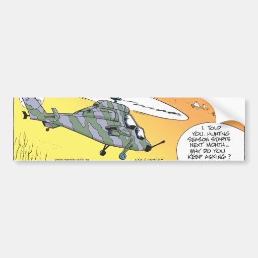 Swamp Ducks Hunting Paranoia Bumper Stickers