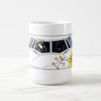 Swamp Ducks Mid Air Collision Coffee Mug