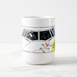 Swamp Ducks Mid Air Collision Basic White Mug