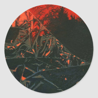 """Swamp Fire #3"" Abstract Design Sticker"