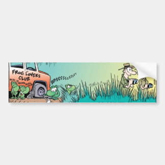 Swamp Frog Prank Bumper Sticker