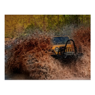 Swamp Jeeping Postcard