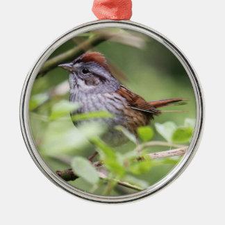Swamp Sparrow Metal Ornament