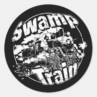 Swamp Train Round Logo 2 Round Sticker