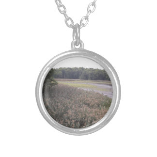 Swamp view silver plated necklace