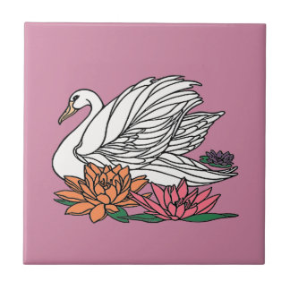 Swan 2 ceramic tile