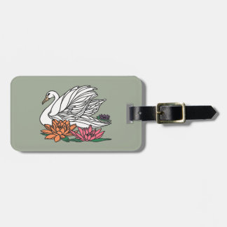 Swan 2 luggage tag