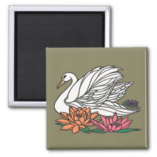 Swan 2 square magnet
