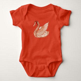 Swan 3 baby bodysuit