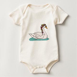 Swan 5 baby bodysuit