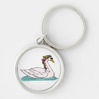 Swan 5 key ring